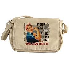 Rosie Keep Calm Brain Tumor Messenger Bag