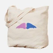 Pink and Blue Wings Tote Bag