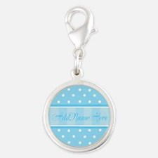 New Baby Boy Silver Round Charm