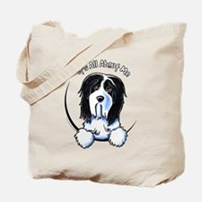 Bearded Collie IAAM Tote Bag