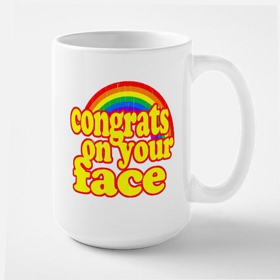 Congrats On Your Face (Retro Look) Mug
