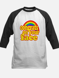 Congrats On Your Face (Retro Look) Baseball Jersey