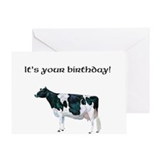 Roxy Holstein Cow Greeting Card