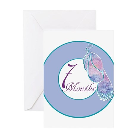 7 months peacock milestone greeting card