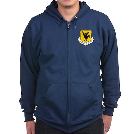 18th Fighter Wing Zip Hoodie (dark)