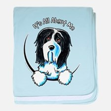 Bearded Collie IAAM baby blanket