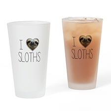 i love sloths Drinking Glass