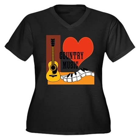 Women's Plus Size Scoop Neck I Love Country Music