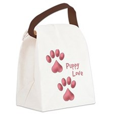 Puppy Love Canvas Lunch Bag