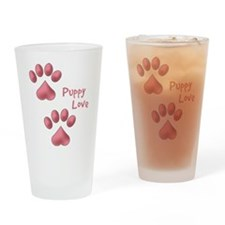 Puppy Love Drinking Glass