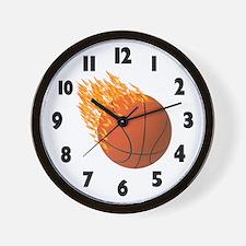 Hot Basketball Wall Clock