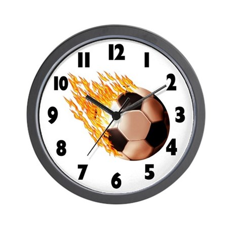 Hot Soccer Wall Clock