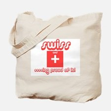 [swiss and f***ing proud of i Tote Bag