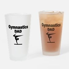 Gymnastics DaD Drinking Glass
