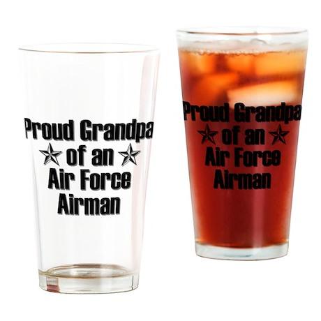 Air Force Proud Grandpa Drinking Glass