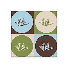Origami Pop Art Rectangle Sticker