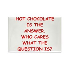 hot chocolate Rectangle Magnet