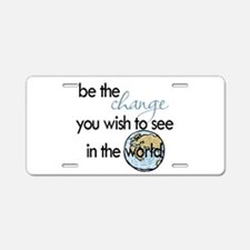 Be the change2 Aluminum License Plate