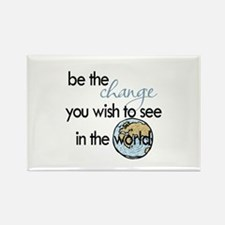 Be the change2 Rectangle Magnet (10 pack)