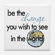 Be the change2 Tile Coaster