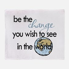 Be the change2 Throw Blanket