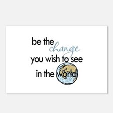 Be the change2 Postcards (Package of 8)