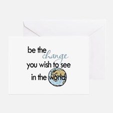 Be the change2 Greeting Card
