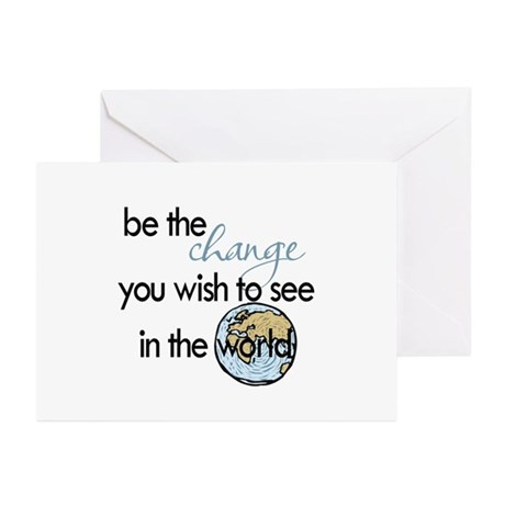 Be the change2 Greeting Cards (Pk of 20)