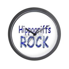 Hippogriffs Rock Wall Clock