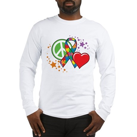 Autism: Peace Love Cure Long Sleeve T-Shirt