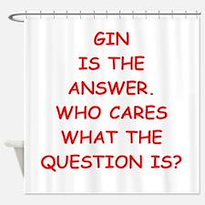 gin Shower Curtain