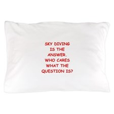 sky diving Pillow Case