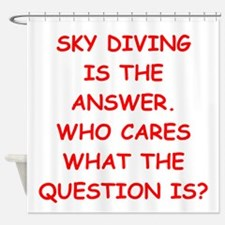 sky diving Shower Curtain