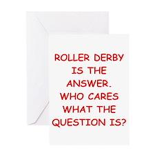 roller derby Greeting Card