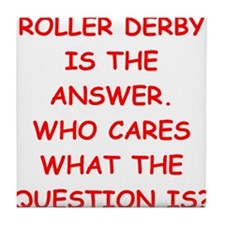 roller derby Tile Coaster