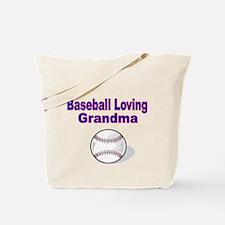 Baseball Loving Grandma Tote Bag