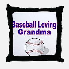 Baseball Loving Grandma Throw Pillow