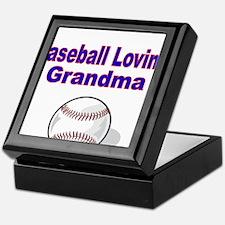 Baseball Loving Grandma Keepsake Box