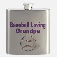 Baseball Loving Grandpa Flask