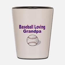 Baseball Loving Grandpa Shot Glass