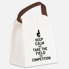 Keep Calm & Take the Field Canvas Lunch Bag