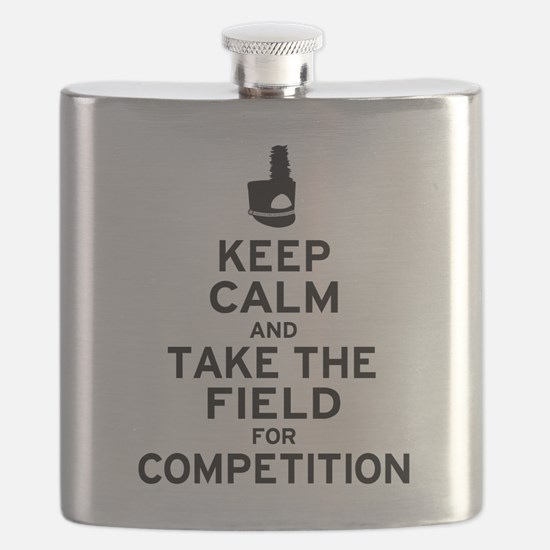 Keep Calm & Take the Field Flask