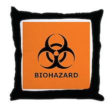 biohazard Throw Pillow