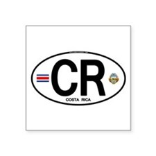 Costa Rica Euro Oval Oval Sticker