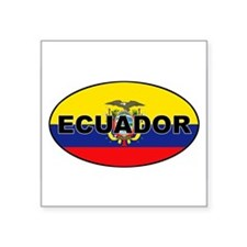 Flag of Ecuador Oval Sticker
