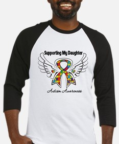 Supporting My Daughter Autism Baseball Jersey