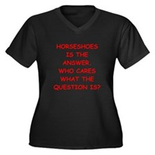horseshoes Plus Size T-Shirt