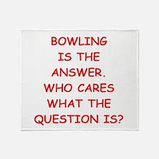 bowler Throw Blanket