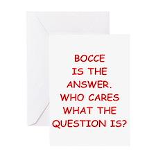 bocce Greeting Card