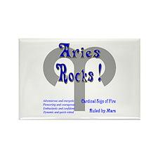 Aries Rocks ! Rectangle Magnet